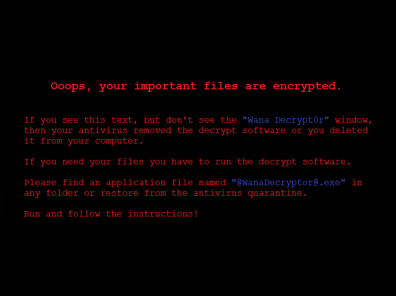 WannaCrypt attacks勒索蠕虫病